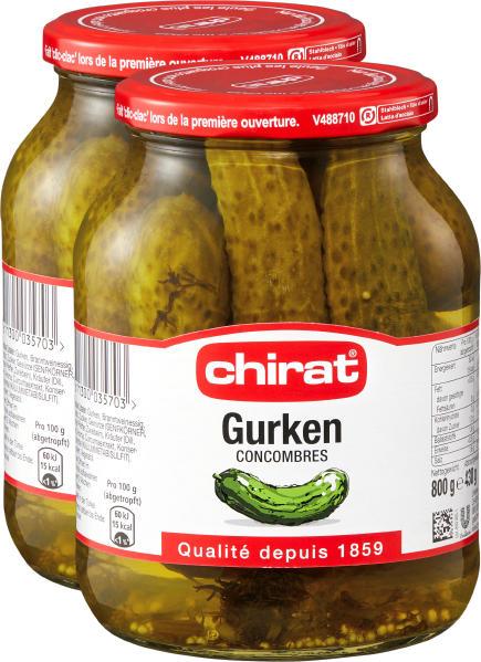 Cetrioli Chirat, 2 x 430 g