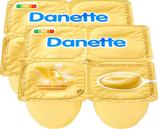 Crème Danette, Vanille, 8 x 125 g