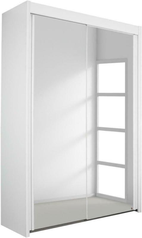 Schwebetürenschrank in Weiß