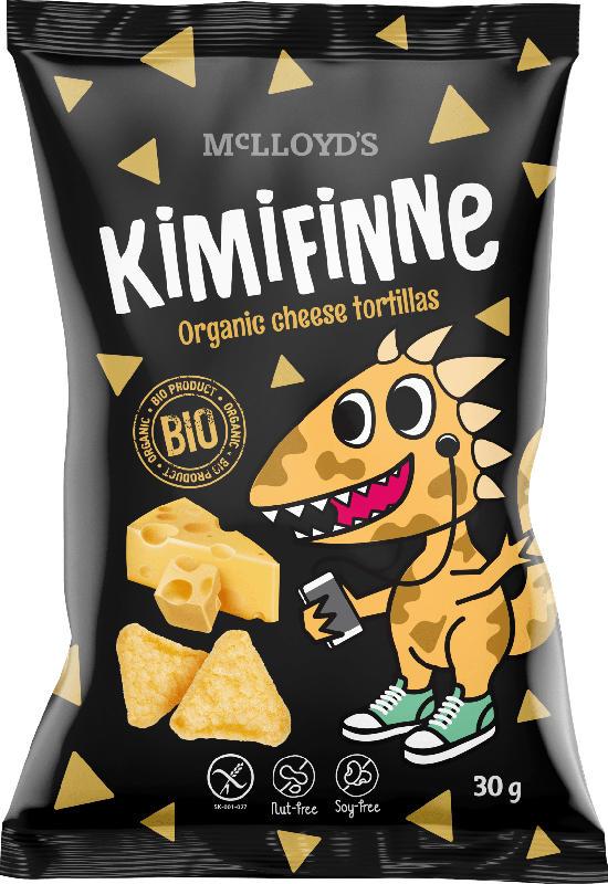 Snack KiMiFiNNe Bio Cheese Tortillas, ab 6 Jahren