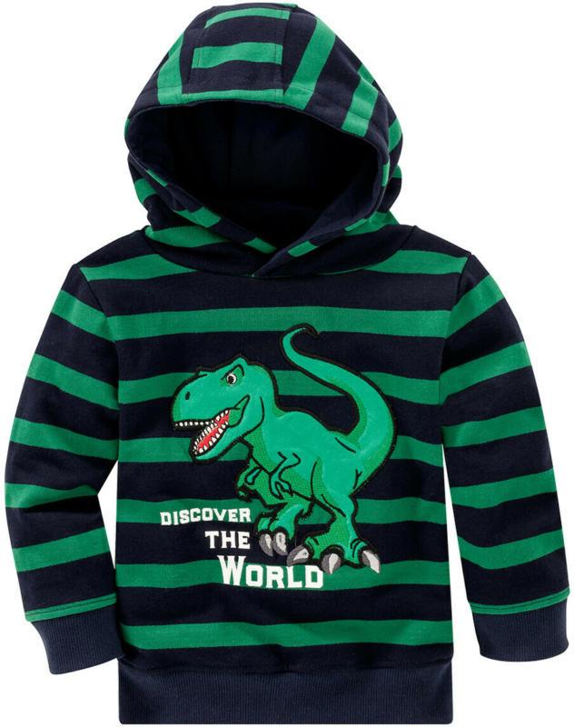 Jungen Hoodie mit Dino-Applikation