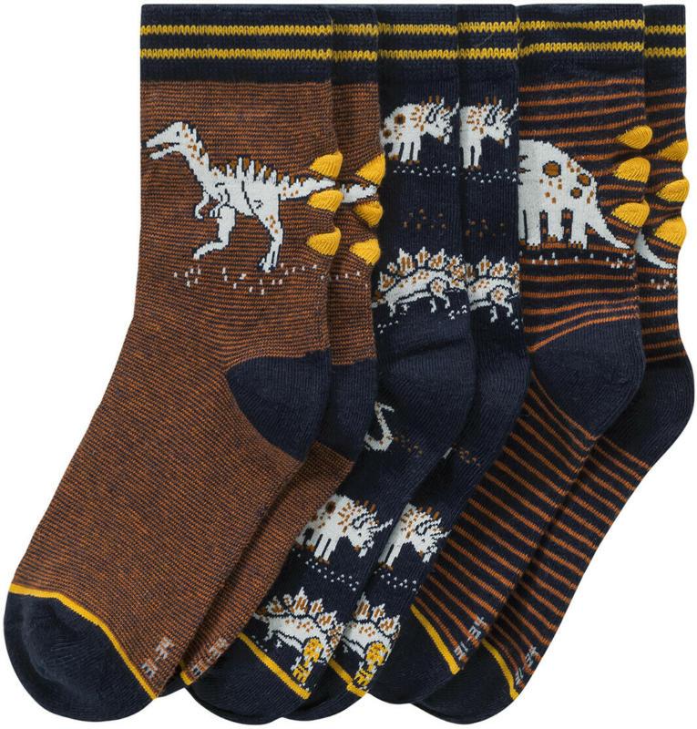 3 Paar Jungen Socken mit Dino-Motiven (Nur online)