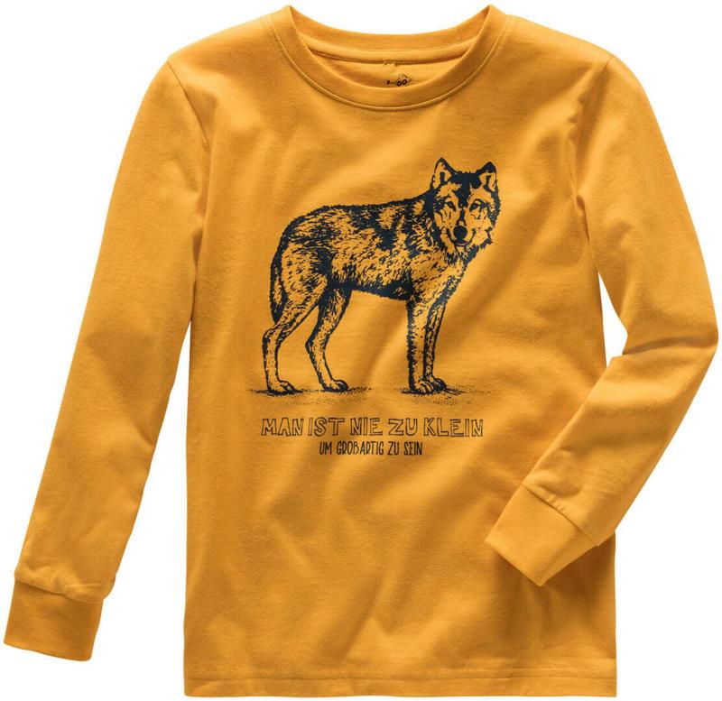 Jungen Langarmshirt mit Wolf-Print