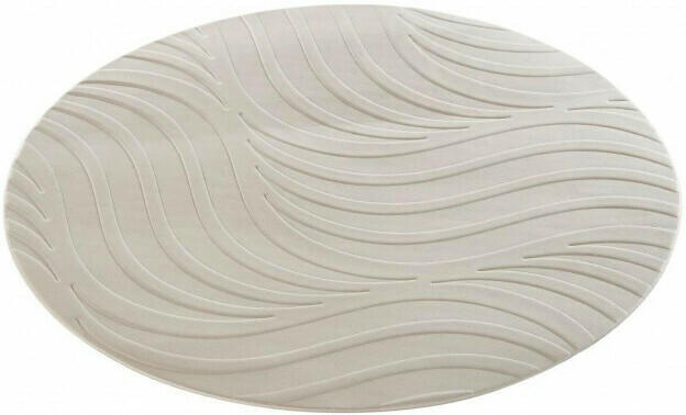 Platzmatte Wave ø ca. 37cm silber