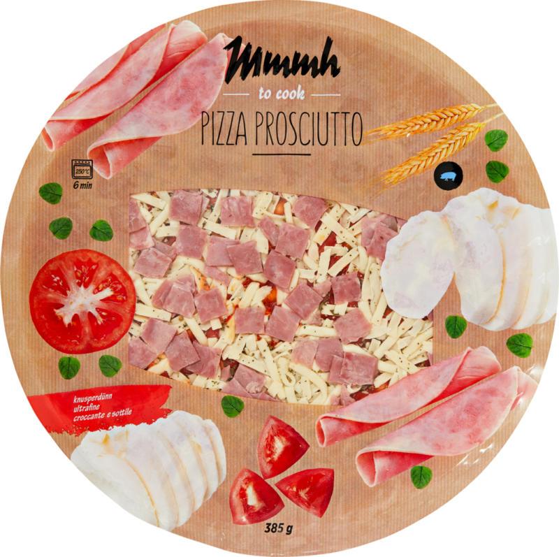 Mmmh Pizza Prosciutto, knusperdünn, 385 g