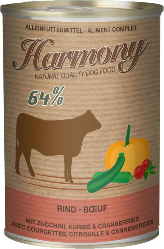 Harmony Dog Boeuf avec courgettes, citrouille & canneberges 6x400g