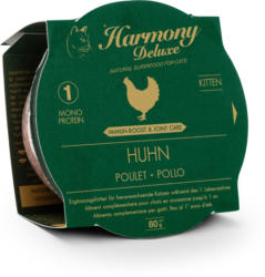 Harmony Cat Deluxe Cup Kitten Poulet Immune-Boost & Care 24x80g
