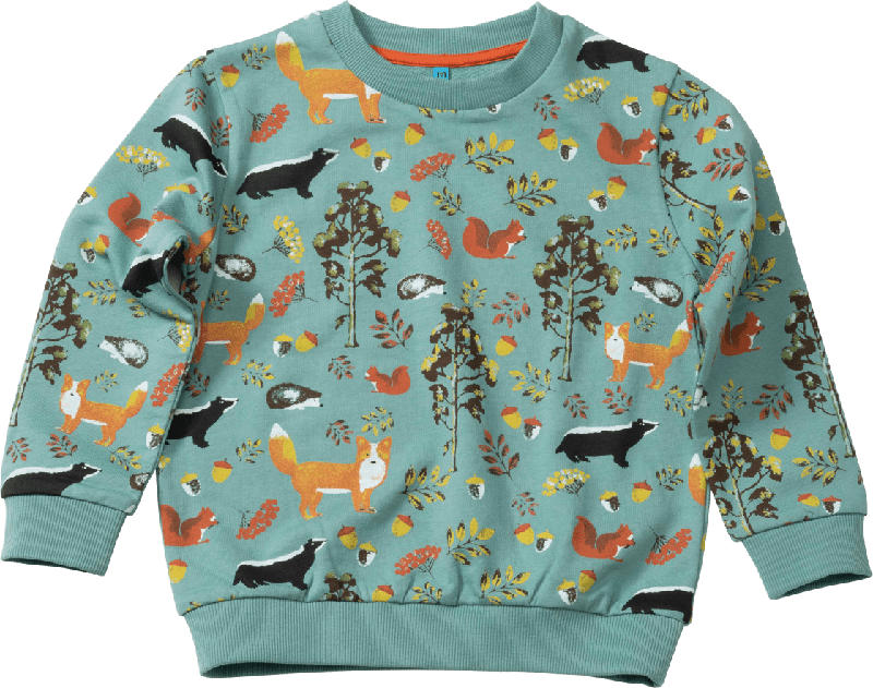 PUSBLU Kinder Pullover, Gr. 110, in Baumwolle, grün