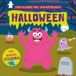 Dekorieren & Einrichten Mal- und Rätselbuch 'Halloween' mit Stickern