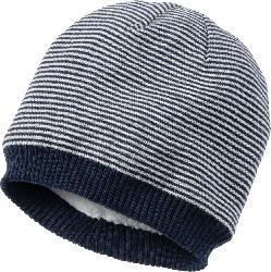 PUSBLU Kinder Mütze, Gr. 52/53, mit Baumwolle, blau, weiß