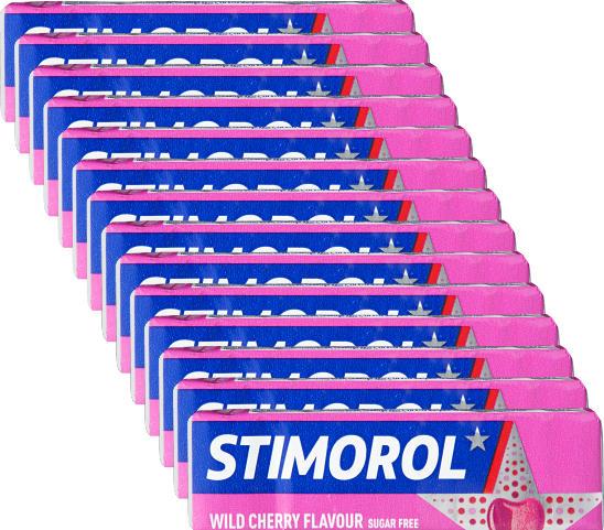 Chewing-gum Stimorol, Wild Cherry, 14 x 14 g