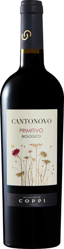 Cantonovo Primitivo bio Puglia IGP, 2016, les Pouilles, Italie, 75 cl