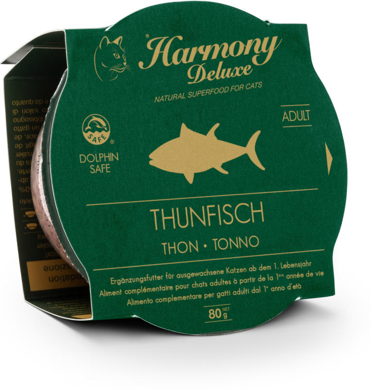 Harmony Cat Deluxe Cup Adult Thunfisch Katzenfutter 24x80g