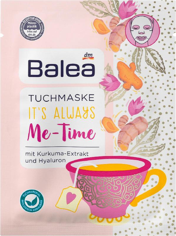 Balea Tuchmaske Me-Time Kurkuma