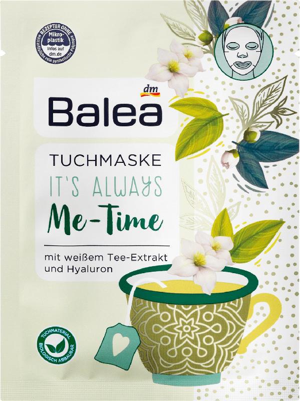 Balea Tuchmaske Me-Time Weißer Tee