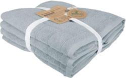Handtuch Set Caithana Bio-Baumwolle in Blau, 4 Stück
