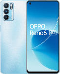 "MediaMarkt OPPO Reno6 5G - Smartphone (6.43 "", 128 GB, Arctic Blue)"