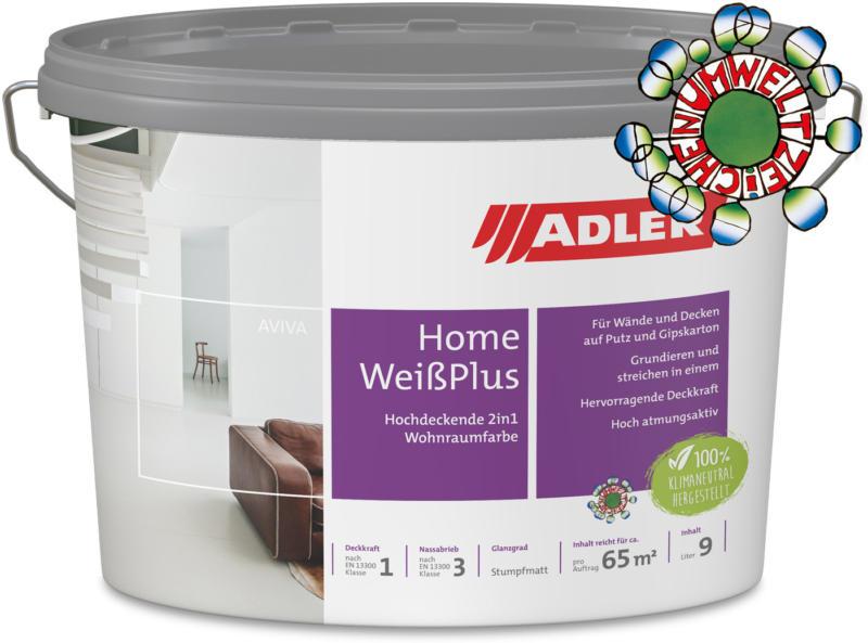 Aviva Home-Weiß Plus, Wandfarbe mit Grundierung, Trockenbaufarbe