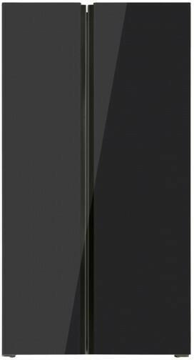 PKM Side-by-Side Kühl-/Gefrierkombination SBS440.4A+NF Glasfront schwarz