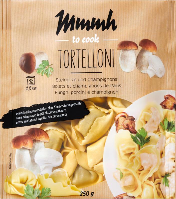 Mmmh Tortelloni Steinpilze und Champignons, 250 g