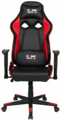 Gaming-Stuhl Game Rocker G-20, Kunstleder schwarz/Netzstoff rot