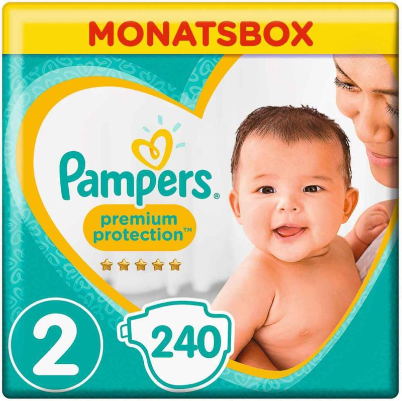 Pampers t. 2 Premium Protection Mini 4-8 kg confezione mensile 240er -