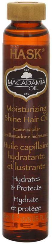 Huile hydratante Hask Shine à l'huile de macadamia 18 ml -