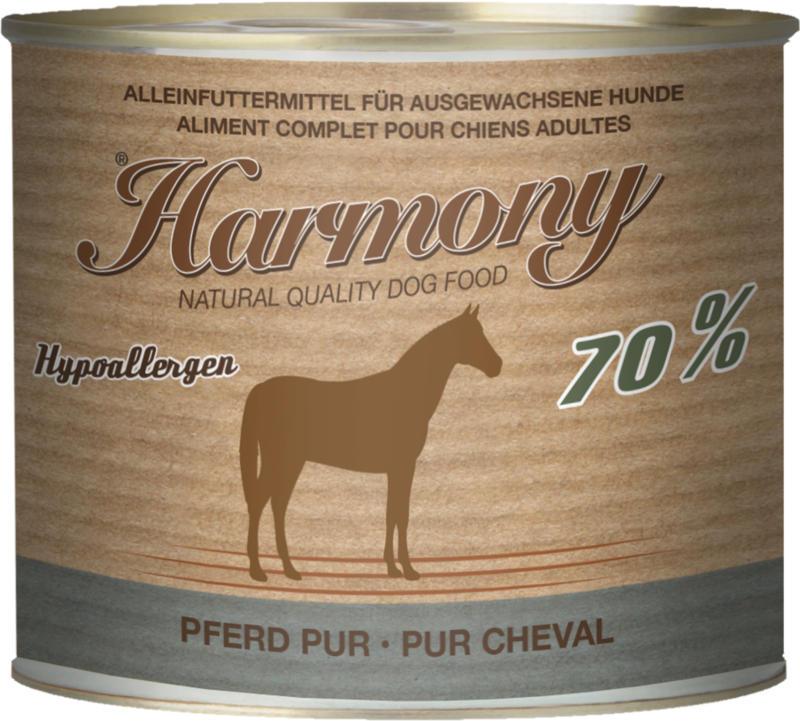 Harmony Dog Natural Nassfutter Pferd Pur 6x200g