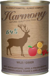 Harmony Dog nourriture humide Gibier avec patate douce, pomme & airelle rouge 6x400g