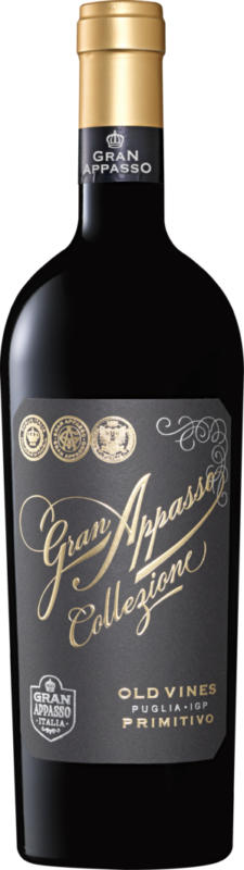 Gran Appasso Collezione Old Vines Primitivo Puglia IGP, 2020, Apulien, Italien, 75 cl