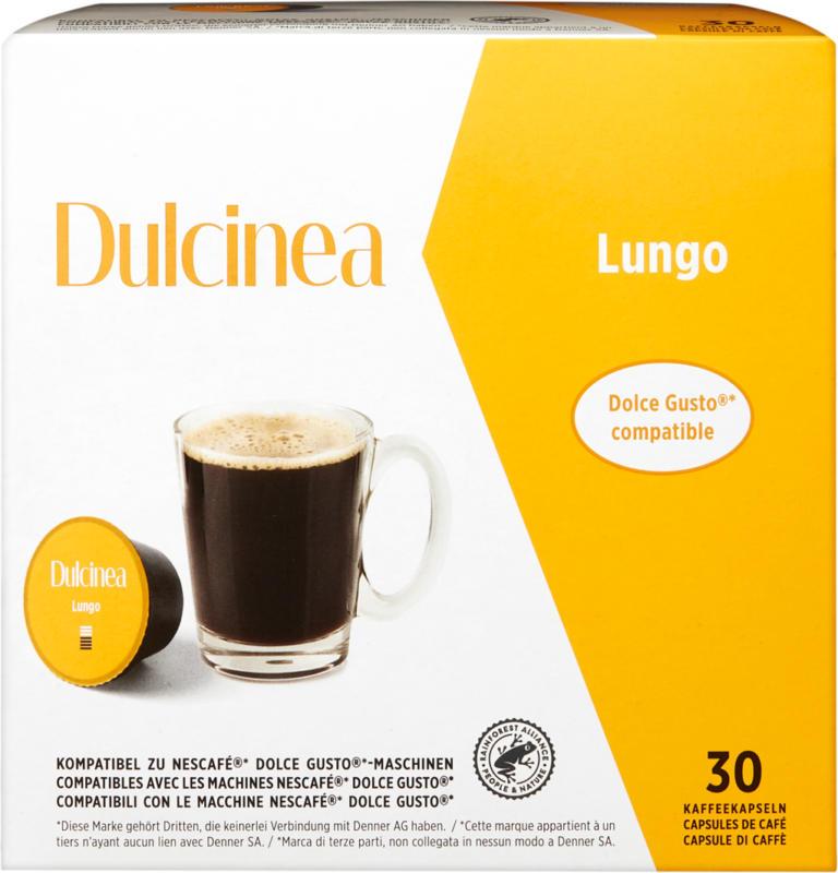 Capsules de café Lungo Dulcinea, compatibles avec les machines Nescafé® Dolce Gusto®, 30 capsules