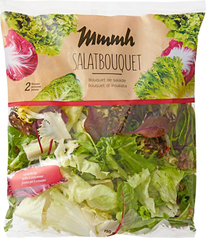 Bouquet di insalata Mmmh, pronto per il consumo, provenienza indicata sull'imballaggio, 150 g