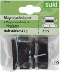 Magnetschnäpper, bewegliche Gegenplatte, braun, 2 Stück bewegliche Gegenplatte   braun