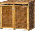 HELLWEG Baumarkt Holz-Mülltonnenbox, 137x83x132 cm, braun