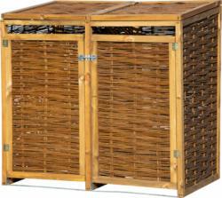 Holz-Mülltonnenbox, 137x83x132 cm, braun
