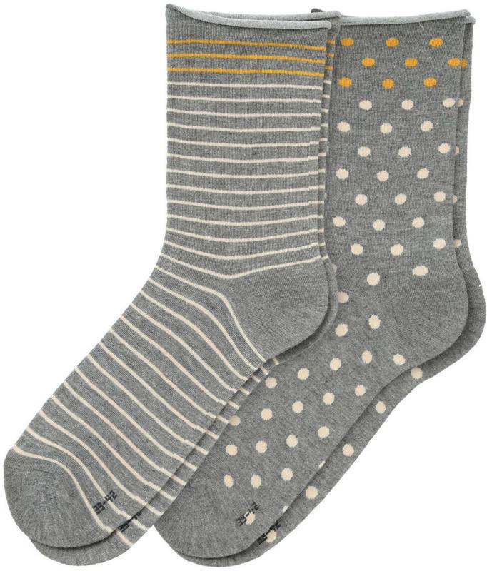 2 Paar Damen Socken mit Rollbündchen (Nur online)
