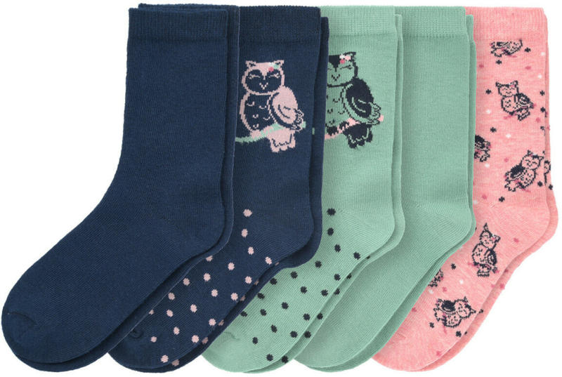 5 Paar Mädchen Socken mit Bio-Baumwolle