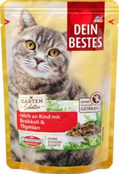 Dein Bestes Nassfutter für Katzen, Gartenschätze reich an Rind mit Brokkoli und Thymian