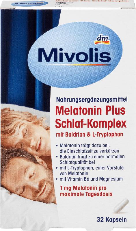 Mivolis Melatonin Plus Schlaf-Komplex 32 Kapseln