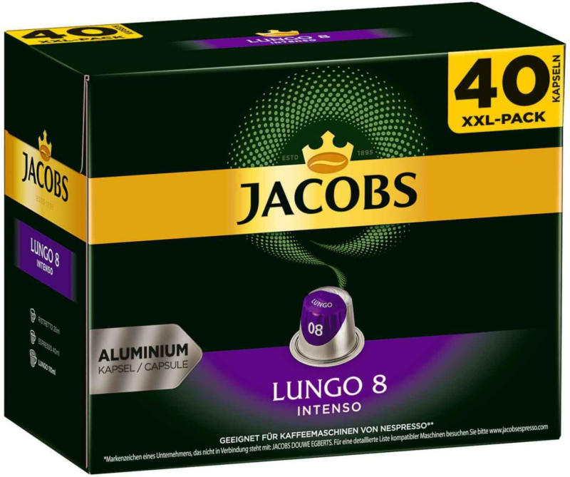 Jacobs - Lungo 8 Intenso, 40 capsule -