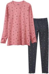 Mädchen Schlafanzug mit Rippstruktur