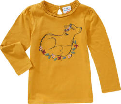 Mädchen Langarmshirt mit Fuchs-Print