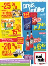 Maximarkt Flugblatt Linz, Haid, Wels & Ried