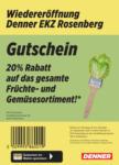 Denner Wiedereröffnung: 20% auf Früchte & Gemüse! - dal 18.09.2021