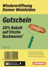 Wiedereröffnung: 20% auf Backwaren!