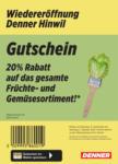 Denner Wiedereröffnung: 20% auf Früchte & Gemüse! - al 02.10.2021