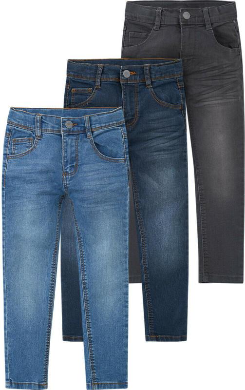 3 Jungen Skinny-Jeans mit verstellbarem Bund