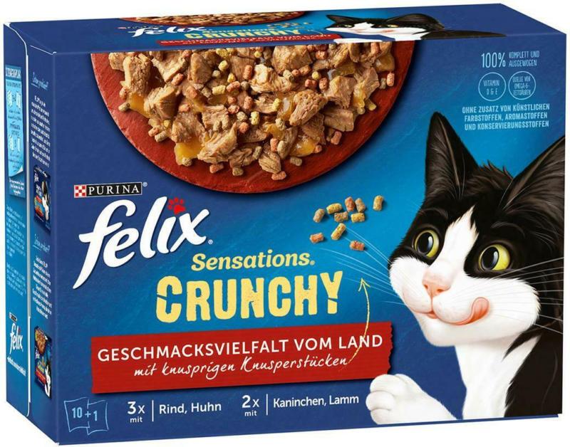 Felix Sensations Crunchy Fleisch 10er + Topping