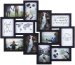 Möbelix Bilderrahmen Collage Darja Schwarz für 12 Bilder, 59x51cm