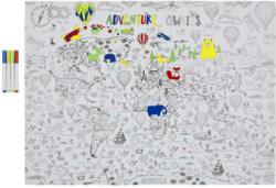 Puzzle Weltkarte, 192 Teile Zum Ausmalen inkl. Stifte